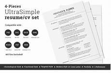 4 pieces resume cv template resume templates