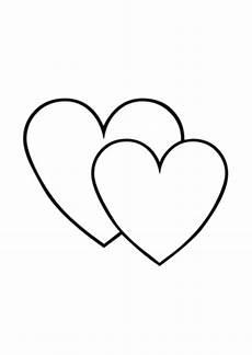 Vorlagen Herzen Malvorlagen Bilder Ausmalbilder Ausmalbild Zwei Herzen
