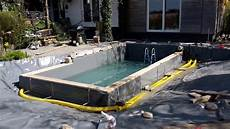 schwimmteich selber bauen schwimmteich selber bauen teil 3 teichfilter aus