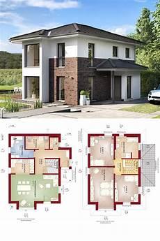 Stadtvilla Modern Mit Klinker Putz Fassade Haus