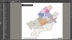 frankfurt stadtplan postleitzahlen plz 5 topographie