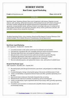 real estate resume sles qwikresume