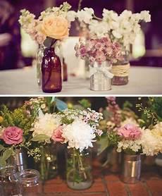 diy center pieces for reception with flowers country wedding ideas diy wedding ideas