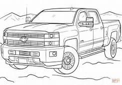 Ausmalbild 2017 Chevrolet Silverado  Ausmalbilder