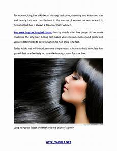 four nature way to make hair growth faster