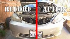 2001 2005 toyota camry headlight assembly replacement youtube