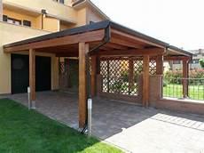 tettoie in muratura tettoia in legno addossata su misura amalegno