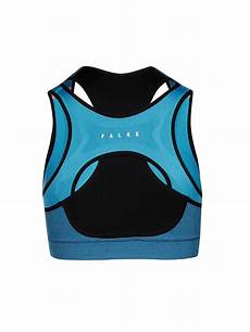 falke damen sport bh mit zip high support blau s
