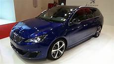 peugeot 308 gt hdi 180 2016 peugeot 308 sw gt blue hdi 180 exterior and