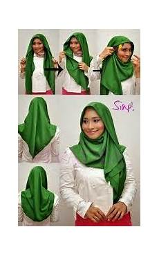 Kebaya Hijau Dengan Kreasi Jilbab Cantik