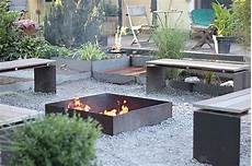 garten feuerstelle industrie stil garden garden