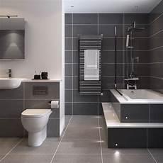 Badezimmer Graue Fliesen - bathroom tile idea use large tiles on the floor and