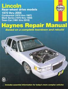 where to buy car manuals 1997 lincoln mark viii free book repair manuals 1970 2010 lincoln rear wheel drive models continental mark series town car haynes repair