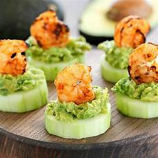 low carb avocado shrimp cucumber appetizer yummy healthy easy