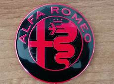 Alfa Romeo New Giulia Black Emblem Badge Logo 74mm