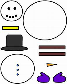 snowman paper craft color template
