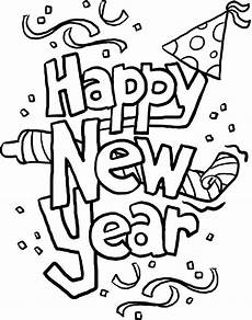 happy new year cards coloring page malvorlagen