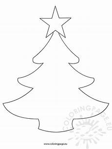 simple tree template coloring page