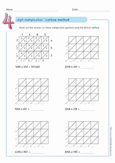 lattice method multiplication exles worksheets test very easy for children it s a method