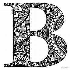 mandala coloring pages letters 17930 quot mandala letter b quot by shaseldine redbubble