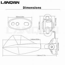 lanqian aluminum motorcycle mirror for yamaha yzf r7 yzf