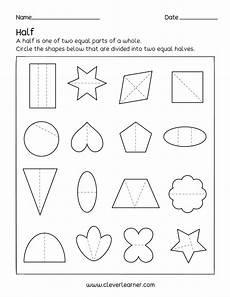fun activity fractions half 1 2 worksheets for children
