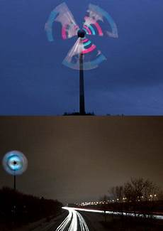 wind turbine becomes colossal led decoration