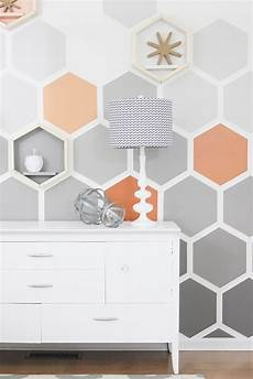 Wand Streichen Muster Ideen - painted wall ideas diy ombre hexagon wall thistlewood farm