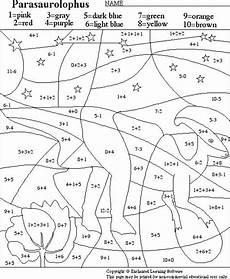 dinosaurs worksheets for 6th graders 15402 parasaurolophus math activity printout enchantedlearning lekser matte