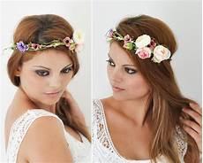 Blumenkranz Hochzeit Haarband Blumen Haarschmuck