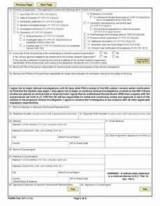 form fda 1571 investigational new drug application free
