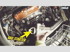Honda Civic Si Starter Motor Removal Replacement   YouTube