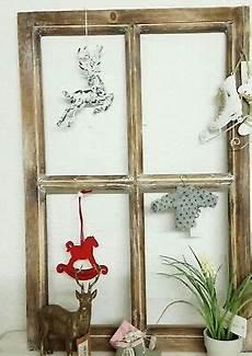 deko fenster fensterrahmen holz braun sprossenfenster 60cm