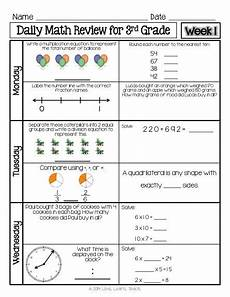 paper worksheet 3rd grade 15720 free 1 week sle of spiral daily math review for 3rd grade available now a year of