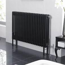 peinture radiateur electrique radiateur horizontal style fonte noir 60cm x 101