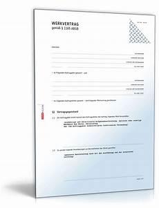 werkvertrag muster vorlage zum