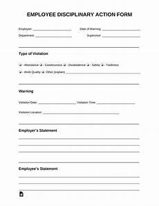 free employee disciplinary action discipline form pdf word eforms free fillable forms