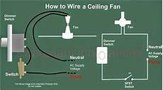 how to wire electrical how to wire a ceiling fan elec eng world