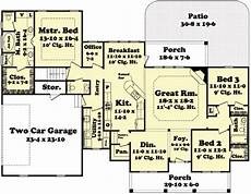 2100 square foot house plans country style house plan 3 beds 2 baths 2100 sq ft plan