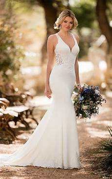 beach wedding dresses sheer beach wedding gown essense of australia