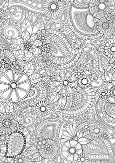 Ausmalbilder Blumen A4 Paisley Blooms Colour With Me Hello Coloring