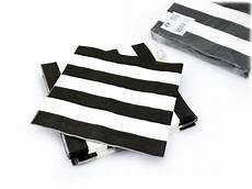 Serviettes En Papier 224 Rayures Noires Et Blanches