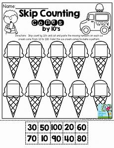1st grade math worksheet counting by 10 skip counting cones by 10 s don t let you students get