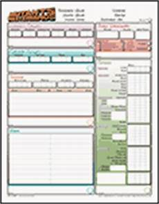 character sheets by angille