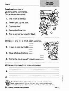 commands worksheet with answers 18713 commands and exclamations lesson plans worksheets