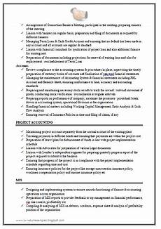 excellent work experience chartered accountant resume sle doc 2 best resume format