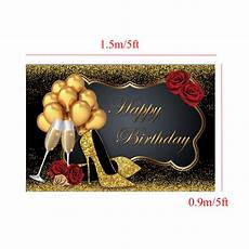 5x3ft 7x5ft 9x6ft High Heel Glass by 5x3ft 7x5ft 9x6ft High Heel Glass Golden Balloon Birthday
