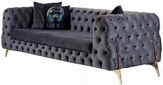 chesterfield sofa grau casa padrino luxus chesterfield samt sofa grau messing