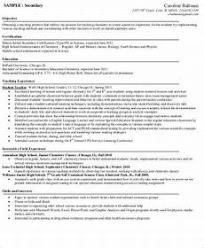 teacher resume objective 6 exle in word pdf