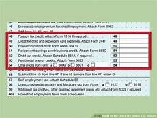 how to fill out a us 1040x tax return with form wikihow